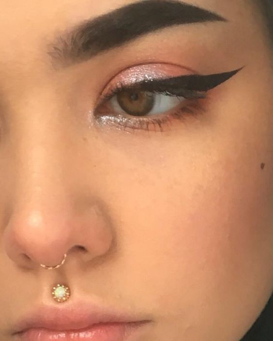 Nose and Medusa piercing