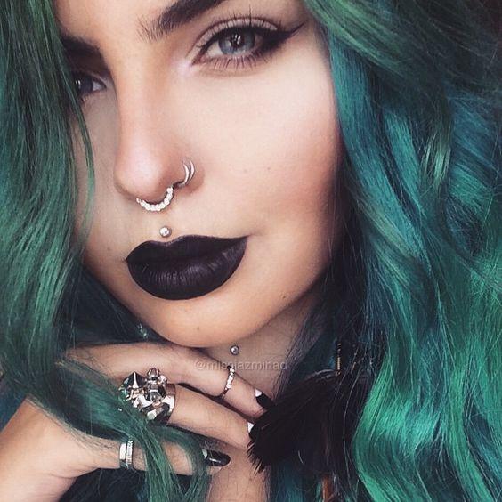 glam medusa piercing