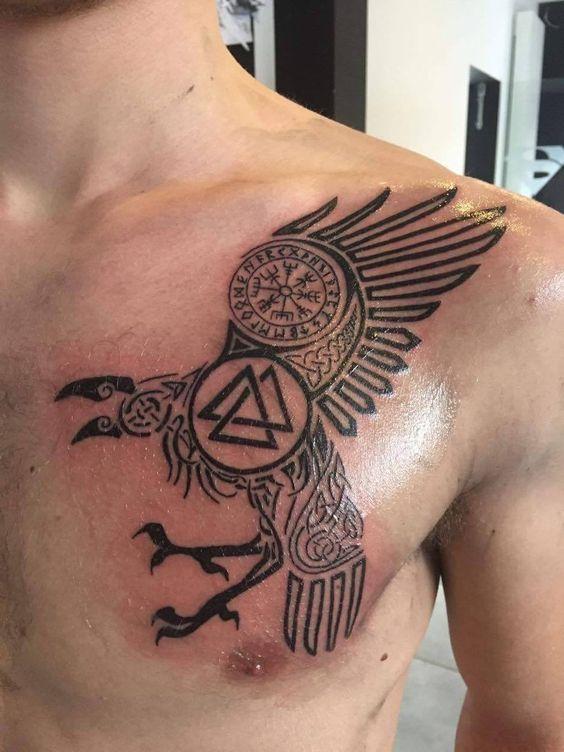 Minimalist Raven Tattoo: 35+ Viking Tattoo Designs And Inspirations