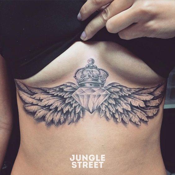 Wing Sternum Tattoo