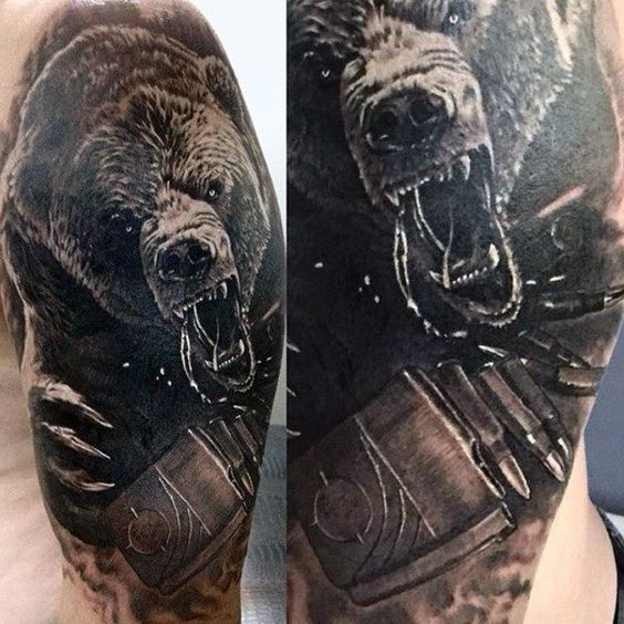 30+ Bear Tattoo Designs for the Rough Individual - Tats 'n ...