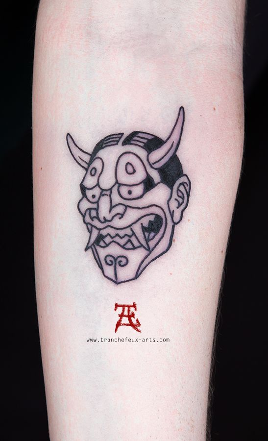 Oni Mask Tattoo Arm