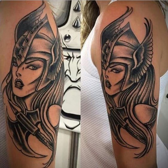 Heroine Viking Tattoo