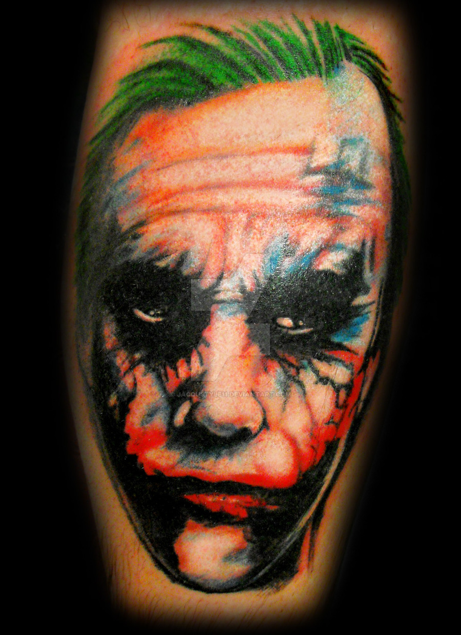 Joker Dark Arm Tattoo