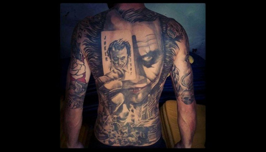 Joker Full Back Tattoo