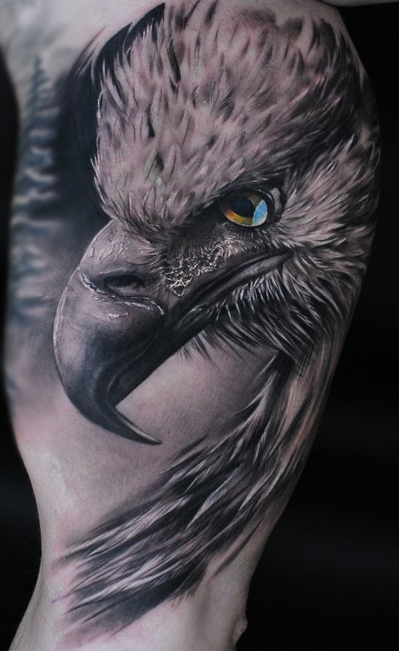 Realistic eagle tattoo