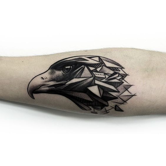 modern eagle tattoo