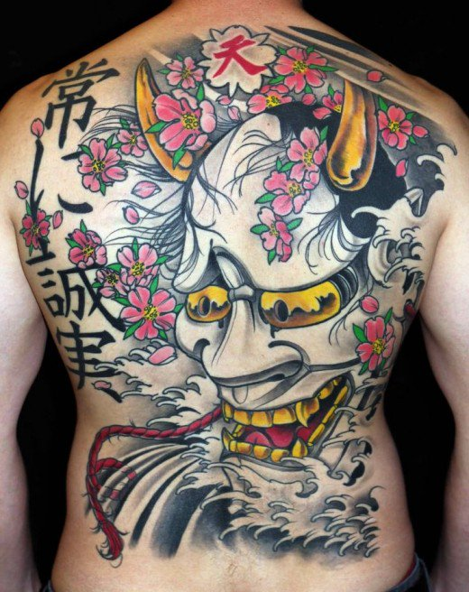 Oni Mask Tattoo Big Back