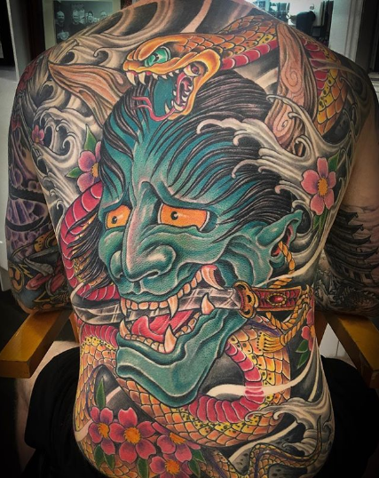 7e52ce926 45+ Oni Mask Tattoo Designs and Ideas - Tats 'n' Rings