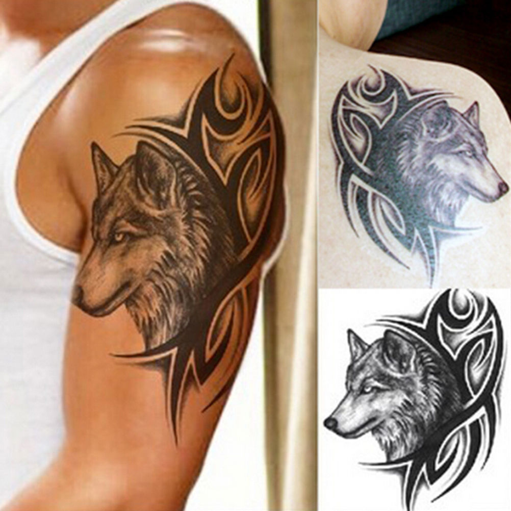 Tribal Wolf Shoulder Tattoo 2