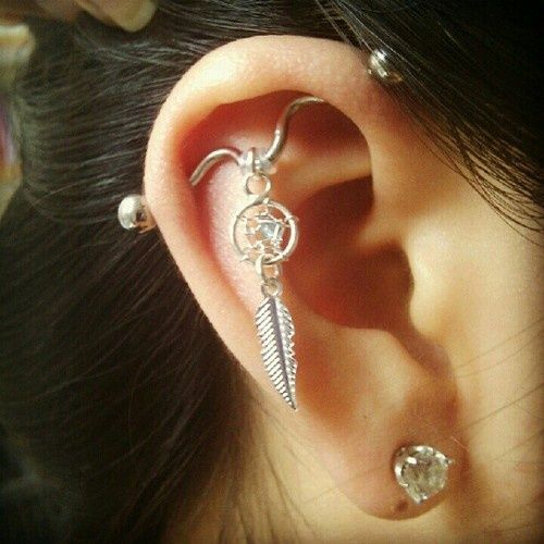 awesome industrial piercing