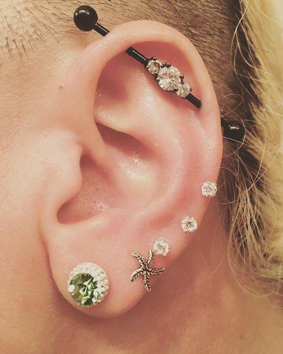 barbell earring