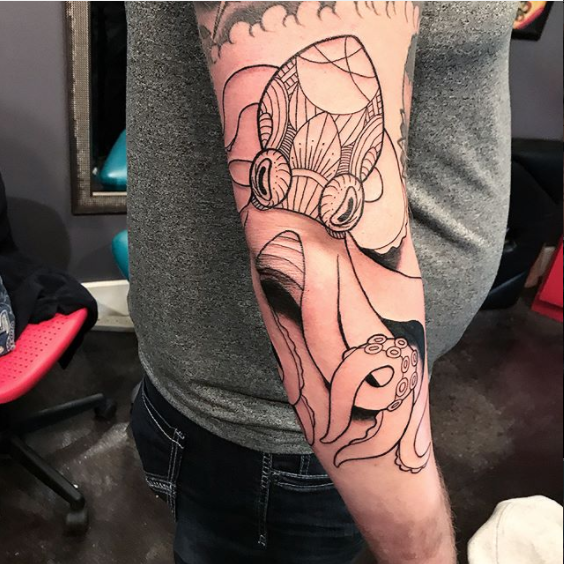 Octopus Doodle Tattoo