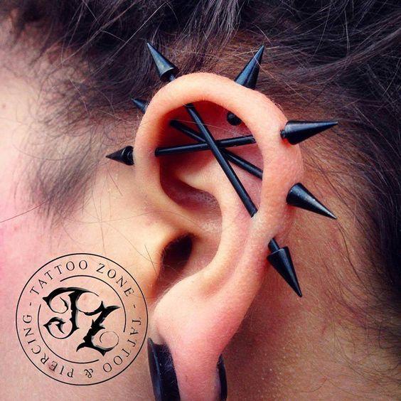 hardcore industrial piercing