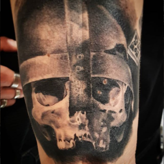 Viking Helmet Tattoo