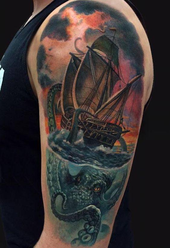 kraken octopus tattoo