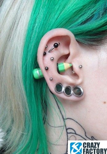 pencil industrial piercing