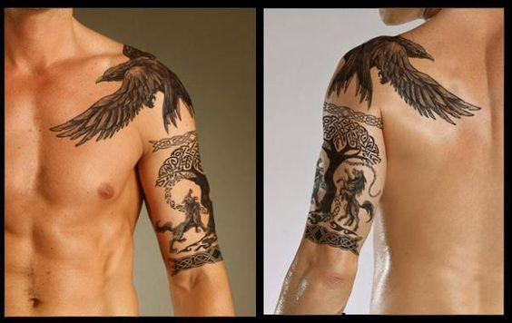 Viking Raven Tattoo