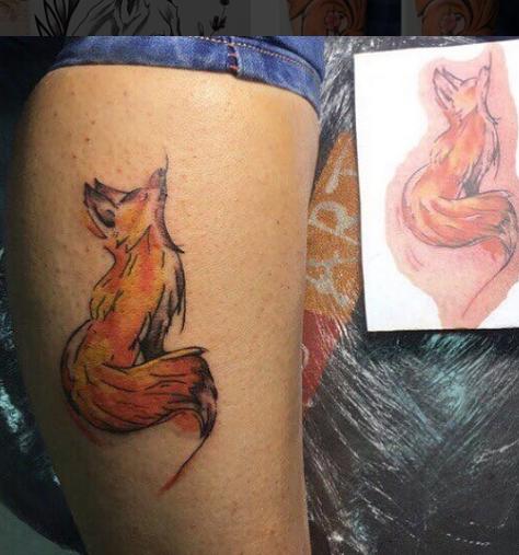 simple fox tattoo
