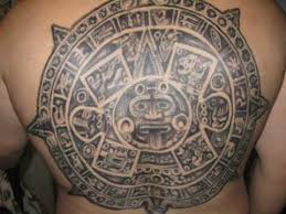 Aztec Calendar Back Tattoo