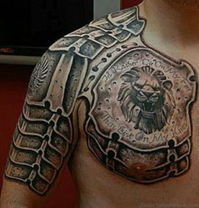 Chestplate Armor Tattoo