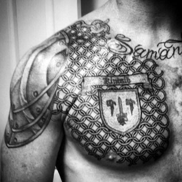 Chestplate Chainmail Tattoo