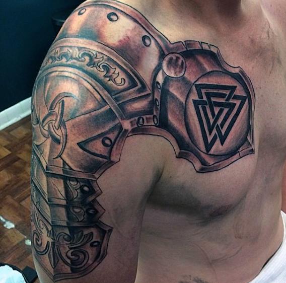 Chestplate valknut Tattoo