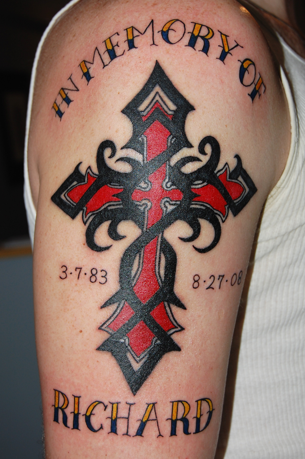 Cross Tattoo men arm 1