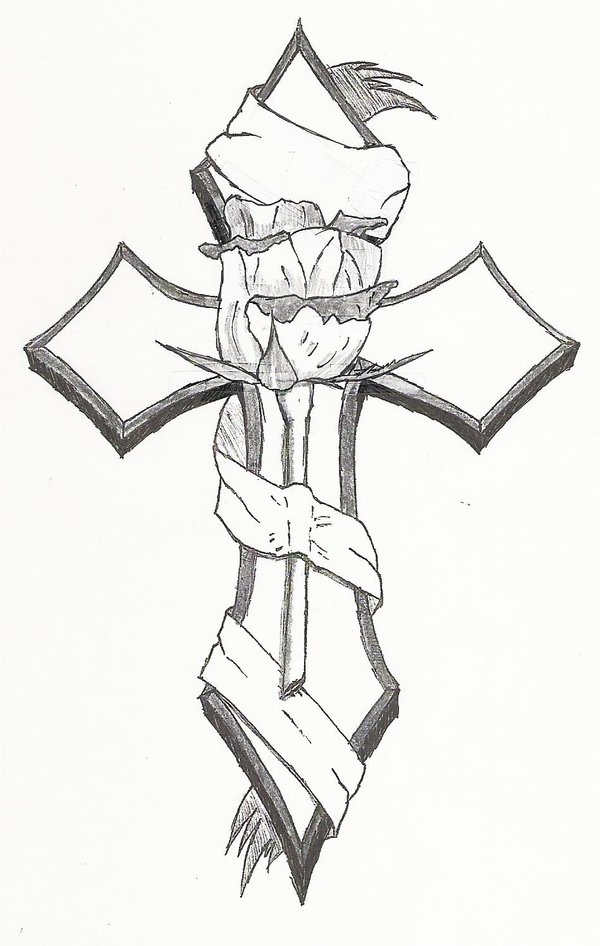Cross tattoo men sketch 4