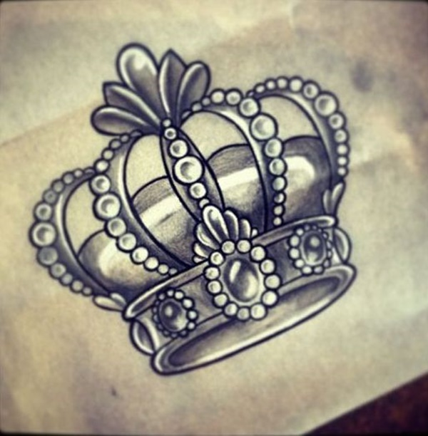 Crown Queen Arm Tattoo