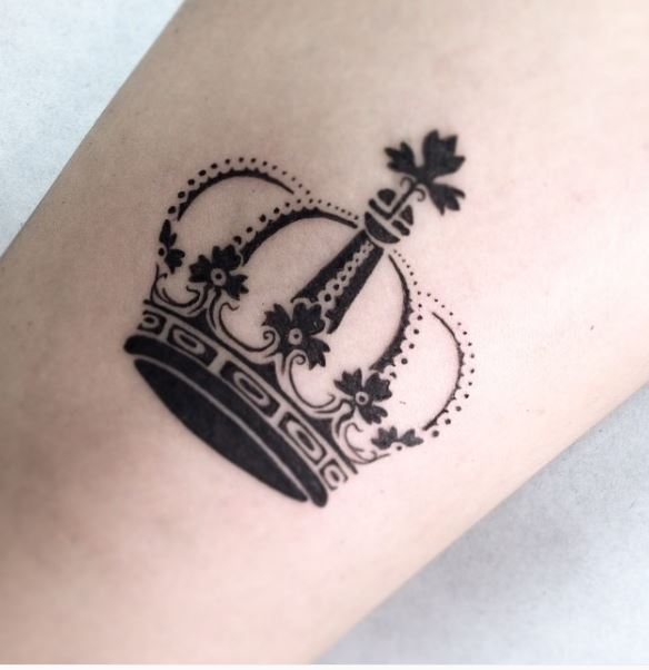 Crown british arm tattoo