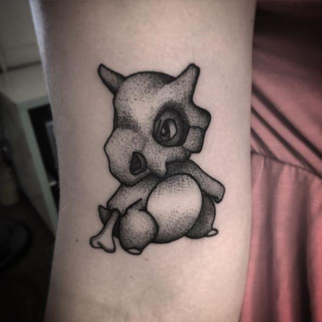 Cubone Arm Tattoo