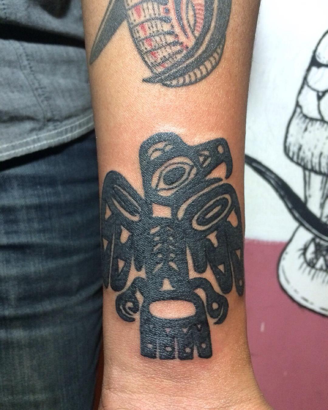 Aztec Eagle Arm Tattoo