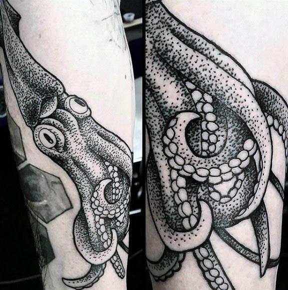 Evil Kraken Arm Tattoo