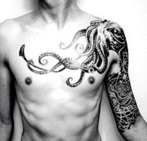 Evil Kraken Shoulder Tattoo
