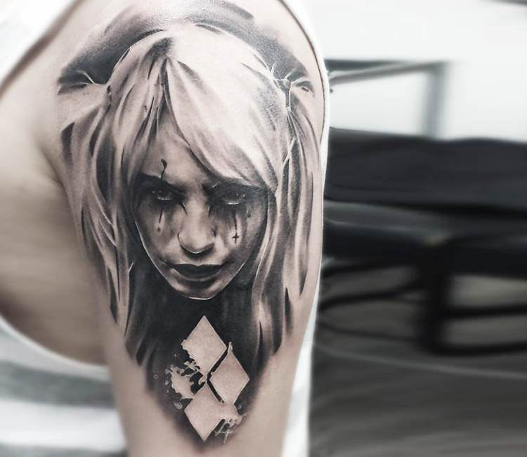 Harley Quinn Black Tattoo