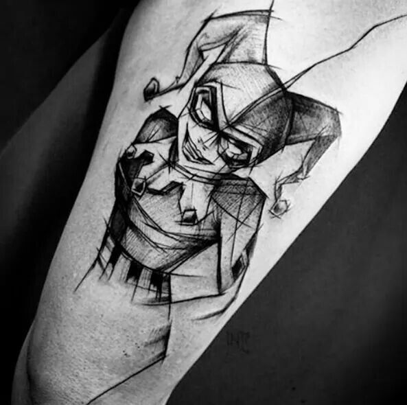 Harley Quinn Comics Arm Tattoo
