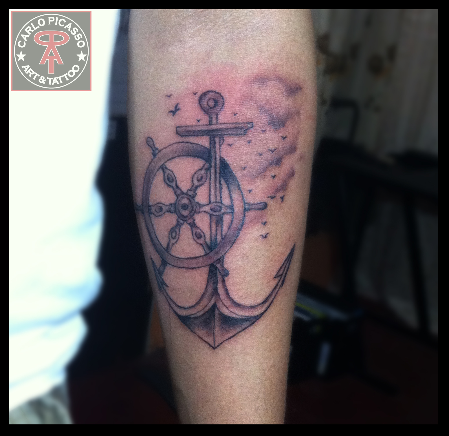 Helm Anchor Arm Tattoo