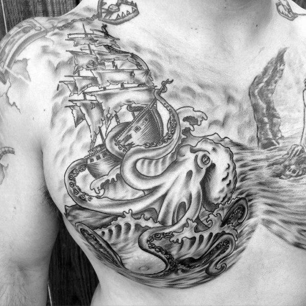 Kraken Ship Kraken Tattoo 1