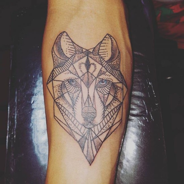 Men Wolf Tattoo Abstract 2