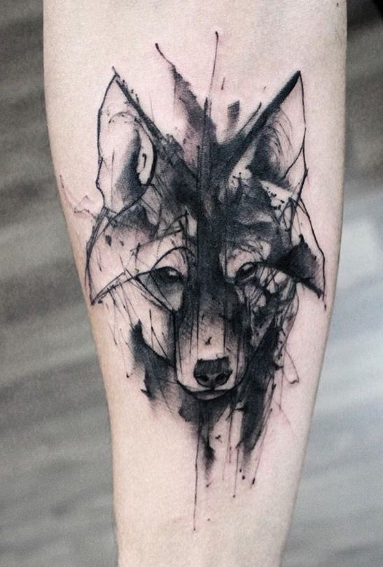 Men Wolf Tattoo Abstract 3