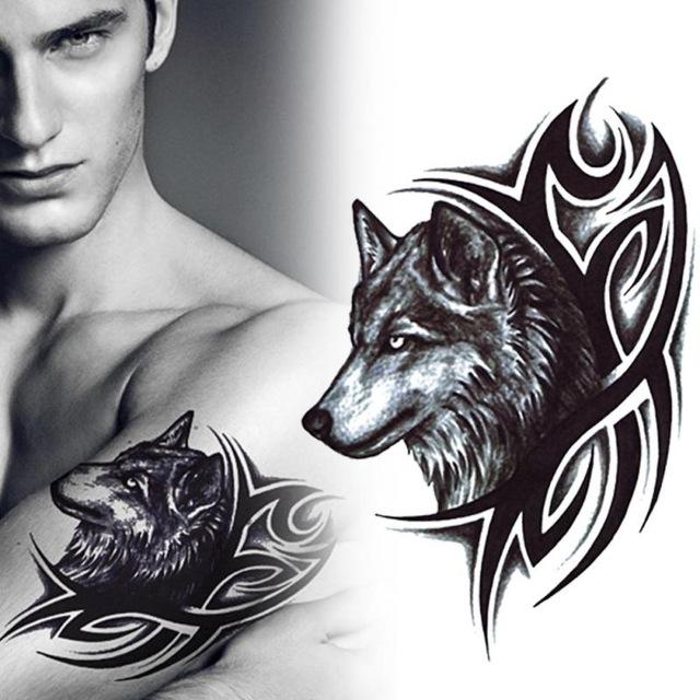 Men Wolf Tattoo tribal