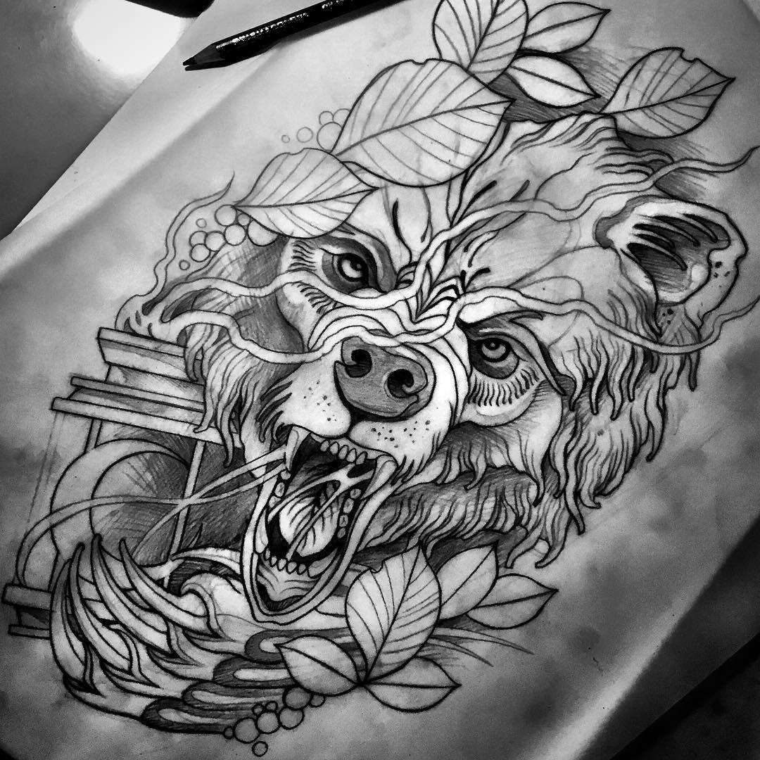 Neo bear tattoo