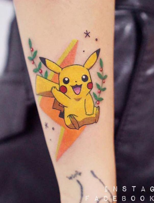 Pikachu Arm Tattoo
