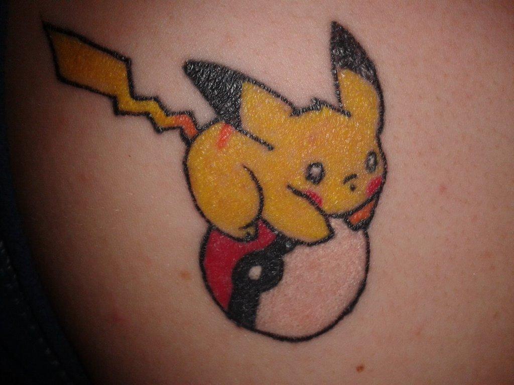 Pikachu Cute Tattoo