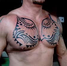 Tribal Tattoo Chest 2