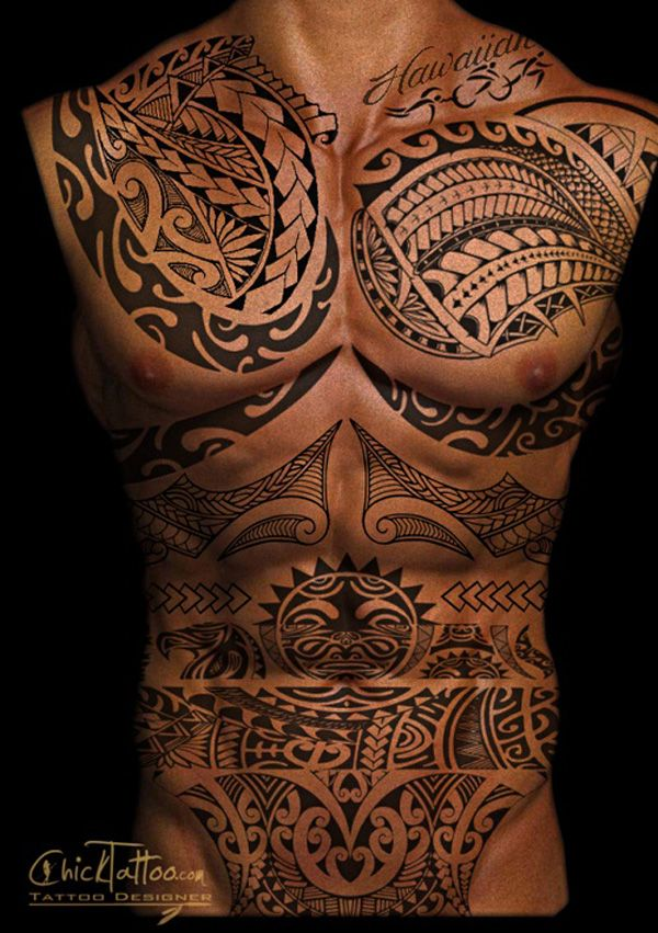 Tribal Tattoo Full Torso