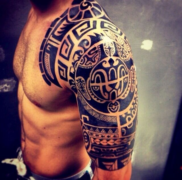 Tribal Tattoo Half Sleeve