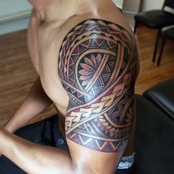 Tribal Tattoo Maori Colored