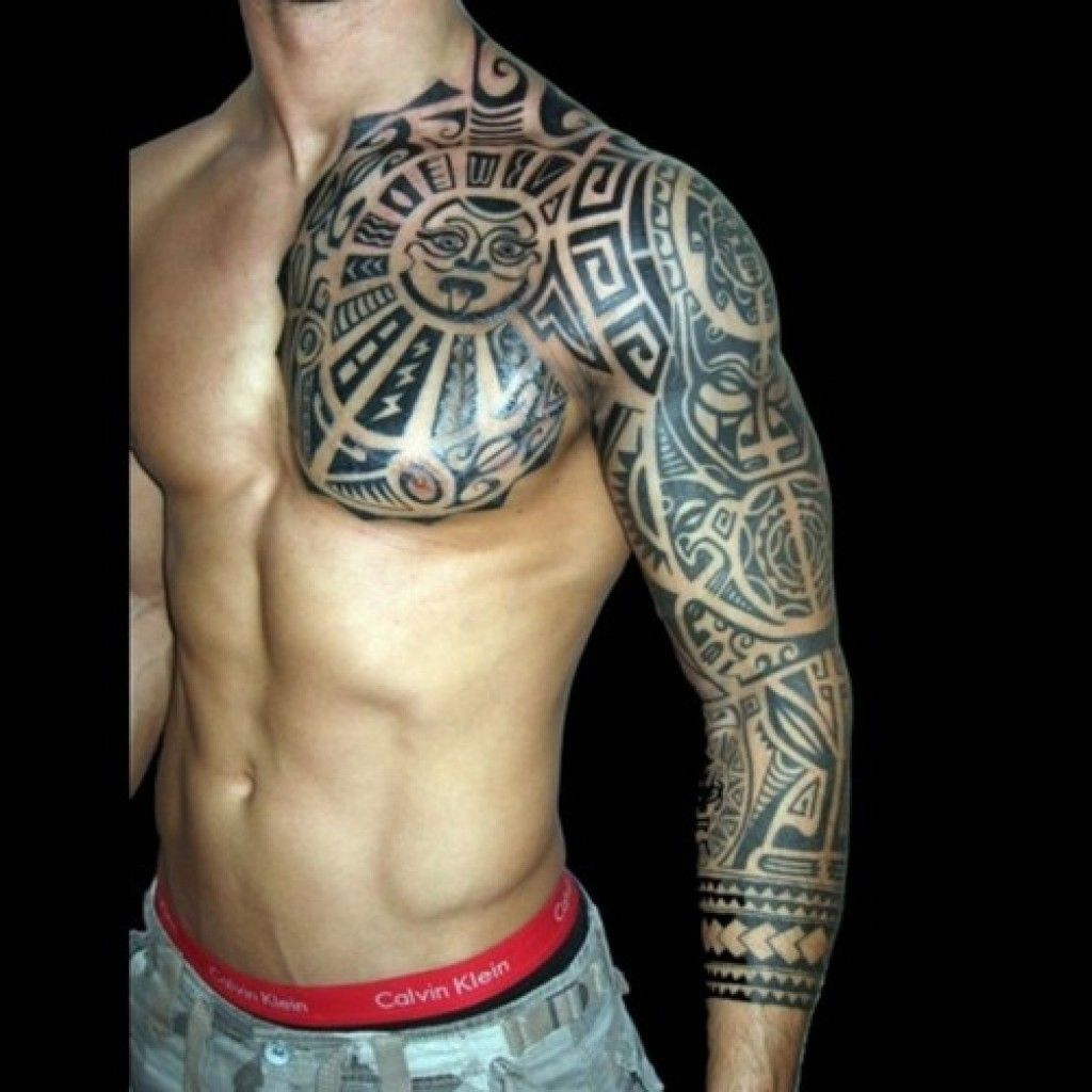 Tribal Tattoo Maori Full Sleeve and Chest
